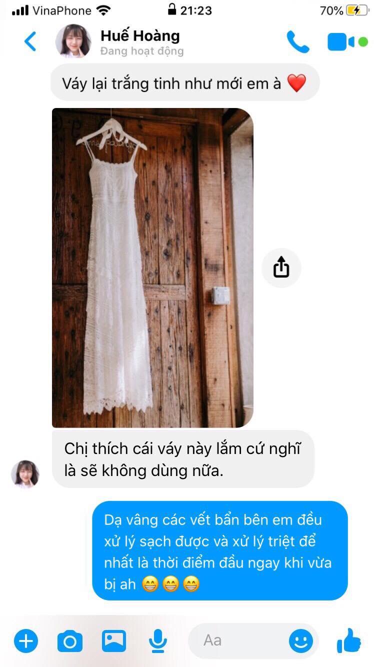 tẩy trắng váy